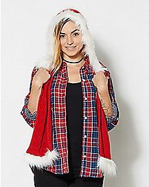 Santa Knitted Hood