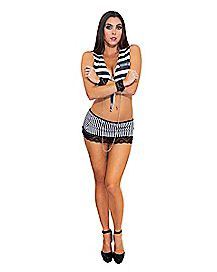 Prisoner Bra Skirt and Cuff Set