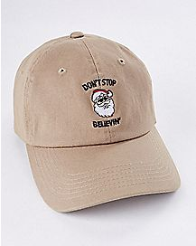 Don't Stop Believin' Santa Baseball Cap