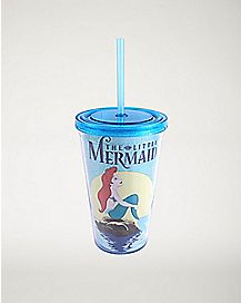 Glitter Ariel Cup with Straw - 16 oz.