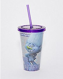 Pass the Glitter Trolls Cup With Straw - 16 oz.