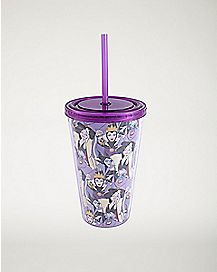 Villains Disney Cup With Straw - 16 oz.