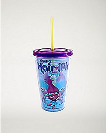 Hairific Day Trolls Cup With Straw - 16 oz.