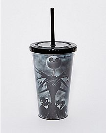Jack Skellington The Nightmare Before Christmas Cup with Straw - 16 oz