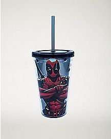 Deadpool Cup With Straw 16 oz. - Marvel Comics