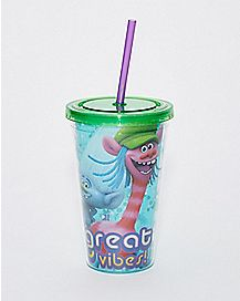 Great Vibes Trolls Cup With Straw - 16 oz.