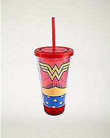 Wonder Woman Uniform Cup With Straw 16 oz. - DC Comics