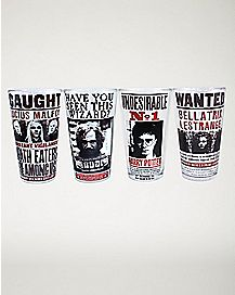 Harry Potter Pint Glass Set - 4 Pack - 16 oz