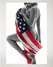 Sexy American Flag Poster