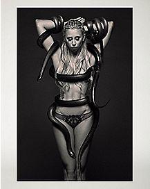 Medusa Snake Girl Poster