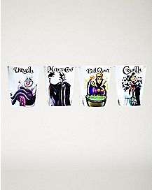 Villains Mini Glass 4 Pack 1.5 oz. - Disney