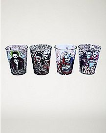 Harley and Joker Suicide Squad Shot Glass 4 Pack - 1.5 oz.