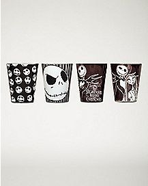 Nightmare Before Christmas Mini Glass 4 Pack - 1.5 oz.