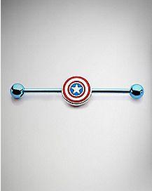 Captain America Industrial Barbell 14 Gauge - Marvel Comics