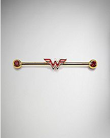 Wonder Woman Industrial Barbell - 14 Gauge