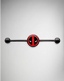 Deadpool Industrial Barbell - 14 Gauge
