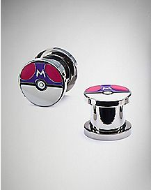 Poke Master Ball Plugs - 00 Gauge