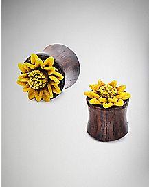 Wooden Sunflower Plugs
