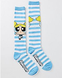 Bubbles Powerpuff Girls Knee High Socks