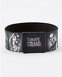 Black and White Suicide Squad Elastic Bracelet