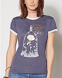 Gold Rose Beauty and the Beast T Shirt - Disney