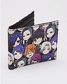 Tokyo Ghoul Faces Bifold Wallet