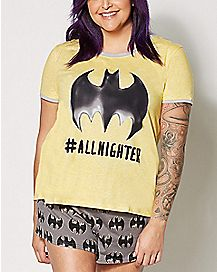 Plus Size Batgirl All Nighter Pajamas - DC Comics