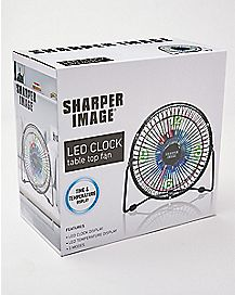 LED Table Top Fan Clock
