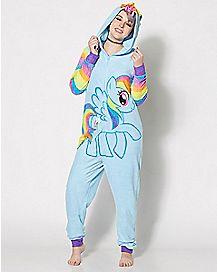 Rainbow Dash My Little Pony One-Piece Pajamas