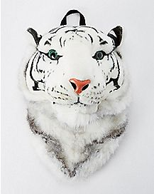 Animal Head White Tiger Backpack