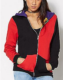 Harley Quinn and Joker Reversible Hoodie - DC Comics