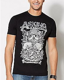 Asking Alexandria Skull Stack T Shirt