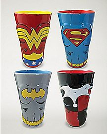 Super Hero Girls Pint Glass 4 Pack 16 oz. - DC Comics