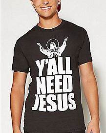 Ya'll Need Jesus Plus Size T Shirt