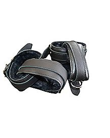 Locking Leather Restraint Cuffs