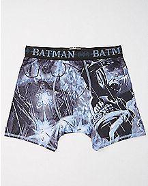 Gray Boxer Batman Briefs - DC Comics
