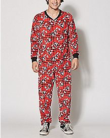 Big and Tall Mickey Mouse One Piece Pajamas - Disney