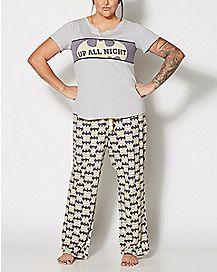 Plus Size Batgirl Pajama Set - DC Comics
