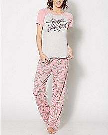Wonder Woman Pink Pajama Set - DC Comics