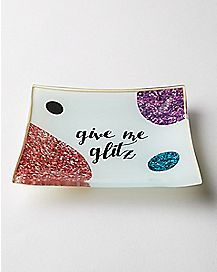 Give Me Glitz Geometric Trinket Tray