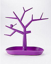 Purple Jewelry Tree