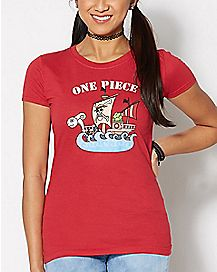 Straw Hat Pirate Ship T Shirt - One Piece