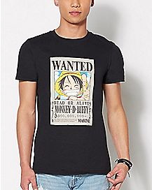 Luffy Wanted One Piece T Shirt