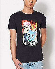 Natsu Happy Fairy Tail T Shirt