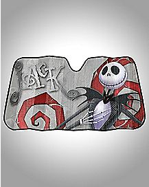 Graveyard Nighmare Before Christmas Car Sun Shade