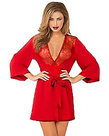 Toast of the Town Lace Kimono Robe