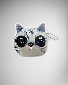 Cat Purse - White