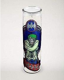 The Joker Stained Glass Candle