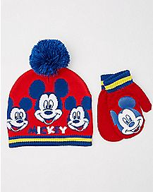 Baby Mickey Mouse Club Hat and Mittens Set - Disney