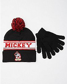 Mickey Mouse Baby Pom Hat and Gloves Set - Disney